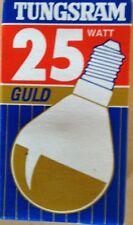 Tungsram  Tropfen-LAMPE 230V 25W E14 klar gold-verspiegelt Glühlampe NEU,OVP