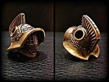 Gladiator Helmet Paracord Bracelet Bead Solid Bronze Handmade Lanyard Beads New