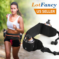 Hydration Running Belt Fits iPhone 6 7 8 Plus - with 2 BPA Free Water Bottles