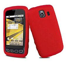 For LG Optimus S LS670 Optimus U Optimus V Silicone Gel SKIN Case Cover Red