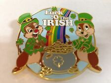 Disney Pins Chip and Dale Luck O the Irish large