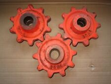 """3 MATCHING VINTAGE INDUSTRIAL STEAMPUNK 6"""" IRON GEAR SPROCKETS LAMP BASES"""