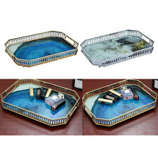 NEW Gold Mirror Tray Perfume Vanity Organizer Coffee Table Serving Tray Decor