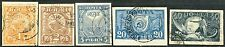 Russia. Sc. 177-180,187. CK. 3-7. 1st standard issue. Postal used. High CV $500+