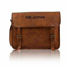 Vintage stunning Leather messenger bag laptop computer case shoulder bag for men