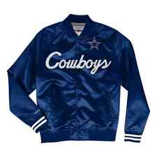 AUTHENTIC MITCHELL & NESS DALLAS COWBOYS LIGHTWEIGHT SATIN NAVY JACKET