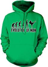 Evolution Of Man Karate Kick Black Belt Chop Dojo Class Gi Ape Hoodie Sweatshirt