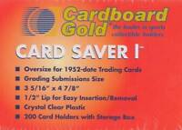 500ct Card Saver 1 Semi Rigid Holders CS1