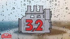 Porsche 911 3.2 engine window sticker - Retro 2.2 style rear screen decal