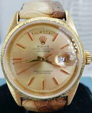 Mens Rolex Day-Date President 18k Bark Bezel Champagne 1807 Lowest price on Ebay