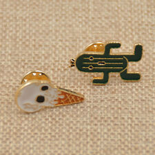 Cute Brooch Enamel Collar Pins Shirt Lapel Pin Clothes Accessory Ice Cream Gift