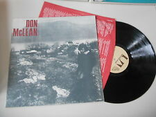 LP Rock Don McLean - Same / Untitled Album (10 Song) UNITED ARTISTS / ITALY