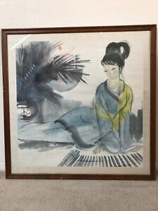 🔥 Antique Asian Chinese Modern Art Scroll Painting - Lin Fengmian 林風眠