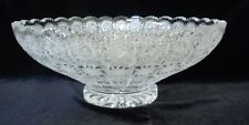 Bohemian Crystal Center Piece Bowl, Queen-lace Hand cut, 13'' Round