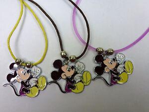 ❤️ Damen Herren Mädchen Jungen Mickey Mouse Maus Anhänger inkl. Kette - NEU