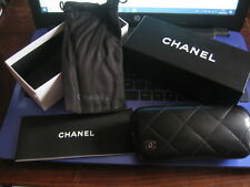 A CHANEL LADIES AVIATOR SUNGLASSES CASE AND BOX ONLY