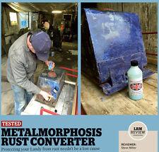 Rust Converter,Treatment ,primer,1 litre freepost Metalmorphosis rust cure