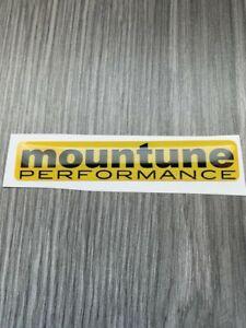 Mountune Racing Gel Domed Tuning Badge Focus RS ST Fiesta ST  yellow