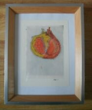 ORIGINAL FRAMED Mixed Media artwork by Sarah Ross 'Pomegranate' 2004
