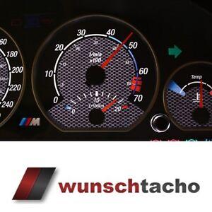 Tachoscheibe für Tacho BMW E46 Benziner 310 Kmh Carbon alle E46 top 021