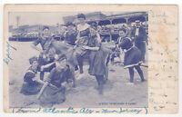 Atlantic City, NJ Vintage 1905 Postcard Donkey Beach Boardwalk Women Antique