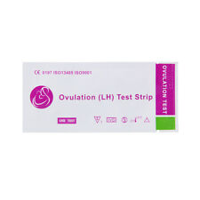 100pcs One Step Early Pregnancy Tests Ovulation Urine Test Strip LH Width Set