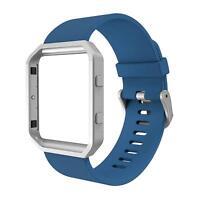 Silicone Band w/Frame For Fitbit Blaze Smart Fitness Watch, Fit bit Blaze Band