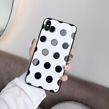 For Samsung Galaxy S10 S9 A50 Lovely Polka Dot Stand Holder Phone Case Cover