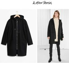 f3dfbefecd4 Brand New - Other Stories Hooded Oversized Black Wool Coat US 2 EUR 32