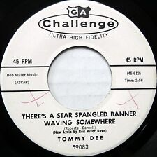 TOMMY DEE 45 There's a Star Spangled Banner Waving Somewhere VG++ Pop PROMO B853