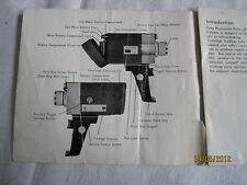 Instructions cine movie camera BOOTS Pacemaker reflex zoom