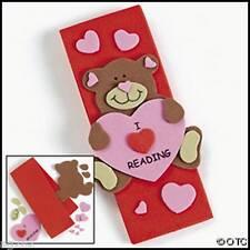 Teddy Bear Heart Bookmark I Love Reading Cute Valentines Day ABCraft