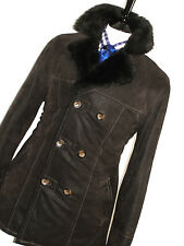 MENS ARMANI JEANS SHEEPSKIN SHEARLING LEATHER PEACOAT OVERCOAT JACKET COAT 40R