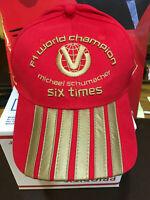 OFFICIAL MICHAEL SCHUMACHER BRAND NEW FERRARI 2003 6th  F1 WORLD CHAMPION CAP