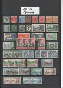 BRITISH HONDURAS  COLLECTION ON 6  PAGES