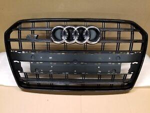 2015 16 2017 2018 AUDI S6 C7 Facelift Front Grill Upper Bumper Grille BLACK OEM