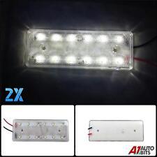 2 piezas 12v 12 LED PARTE DELANTERA Trasero Blanco Luces de marcaje Camión
