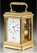 A French Carriage Clock With Petit Sonneire Movement 6-1/4 Inches H. Lot 65123