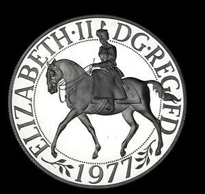 Royal Mint Silver cameo proof crown 1977 Queen Elizabeth II