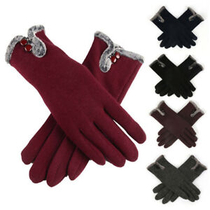 Ladies Winter Gloves Touch Screen Fleece Thick Warm Comfy Soft Fur Lined Thermal