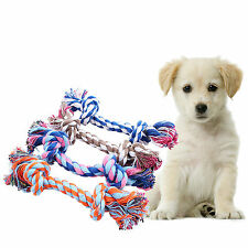 Chew Toy with 2 Knot Fun Tough Strong Puppy Dog Pet Tug War Play Cotton Rope