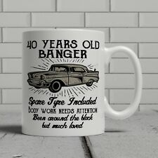 40th birthday mug funny banger cheeky gift idea husband dad father happy 40