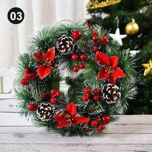 Large Christmas Holiday Wreath Door Wall Hanging Ornaments Garland Xmas Decor