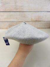 NWT Women's APT. 9 Light Gray PARISIAN / Beret WOOL Hat - One Size Fits All