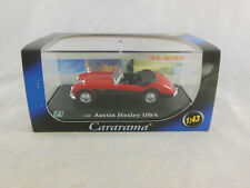 Cararama / Oxford Diecast Austin Healey 100/6 in red with Black sides Scale1:43