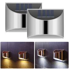 2PC LED Solar Powered PIR Motion Sensor Light Outdoor Garden Security Wall Light