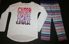 New Gymboree Girls 2 Piece Outfit 10 12 yr Cheer Your Heart Out Top & Leggings