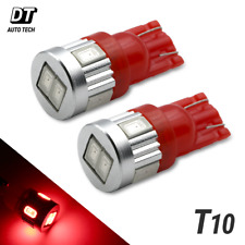 2X T10 921 High Power 2835 LED Red License Plate Interior Light Bulbs