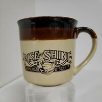 Hardees Rise And Shine Homemade Biscuits Coffee Cup Mug Vintage First Issue 1984