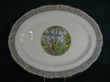 "Royal Albert Silver Birch Large 15"" Oval Serving Platter"